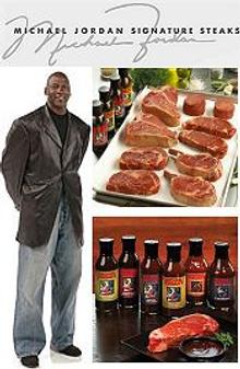Picture of mail order steak from Michael Jordan Steaks catalog