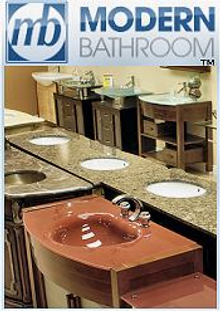Picture of bathroom fixtures and accessories from Modern Bathroom catalog