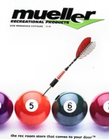 Picture of pool tables supplies from Mueller Recreational Products catalog