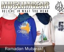 Picture of muslim clothing from Muslim Gear catalog