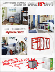 Picture of storage bins for kids from MyOwnersBox catalog