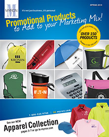 Picture of myron.com from Myron Promotional Products catalog