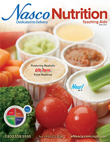 Picture of teaching kids nutrition from Nasco Nutrition catalog