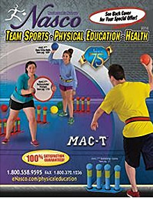 Picture of physical education equipment from Physical Ed & Team Sports by Nasco catalog