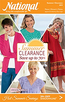 Picture of apparel catalog from National catalog