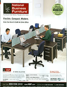 Picture of computer desk furniture from National Business Furniture catalog