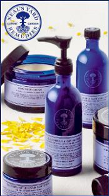 Picture of organic skin care products from Neal's Yard Remedies catalog
