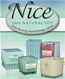 Picture of highly scented soy candles from Nice Aromas catalog