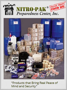 Picture of nitro pak from Nitro-Pak Preparedness Center catalog