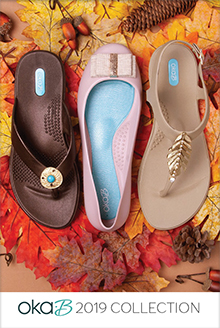 Picture of Oka-B flip flops from Oka-B catalog
