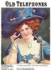 Picture of telephone antiques from Old Telephones by PhoneCo catalog