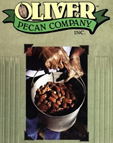 Picture of roasted pecans from Oliver Pecan Company catalog