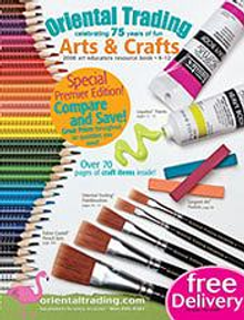 Picture of art supply catalog from Oriental Trading - Art Supplies catalog