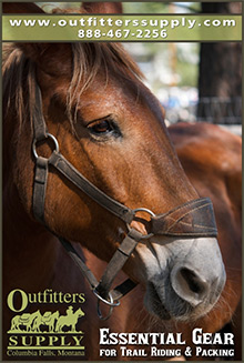 Picture of western saddles from Outfitters Supply catalog