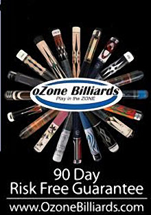 Picture of billiard supplies from Ozone Billiards catalog