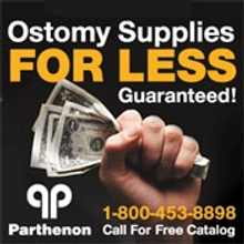 Picture of ostomy products from The Parthenon Company catalog