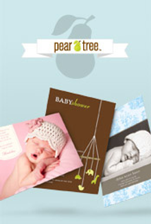 Picture of personalized birth announcements from Birth Announcements - Pear Tree Greetings catalog