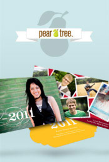 Picture of custom graduation invitations from Graduation Announcements - from Pear Tree catalog
