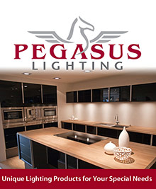 Picture of commercial lighting fixtures from Pegasus Lighting, Commercial catalog