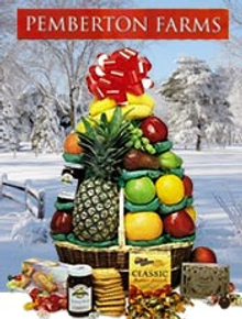 Picture of healthy gourmet gift baskets from Pemberton Farms catalog