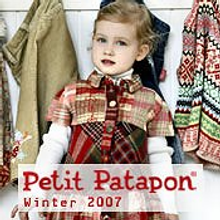 Picture of childrens designer clothing from Petit Patapon catalog