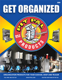 Picture of garage organization from Pit Pal Products