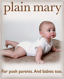 Picture of hip baby gear from Plain Mary catalog