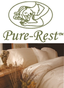 Picture of organic cotton bedding from Pure-Rest™ Organics catalog