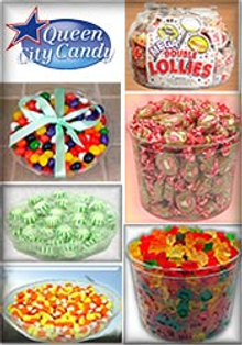 Picture of old fashion candy from Queen City Candy catalog