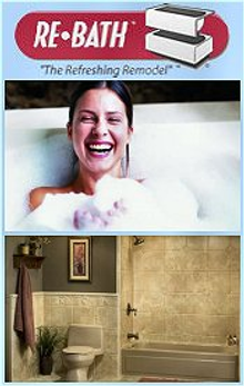Picture of bathtub surrounds from Re-Bath catalog