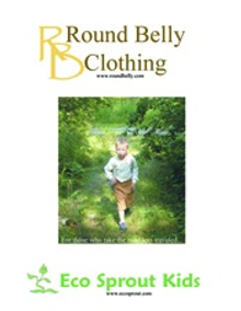 Picture of organic baby clothes from Round Belly Clothing catalog