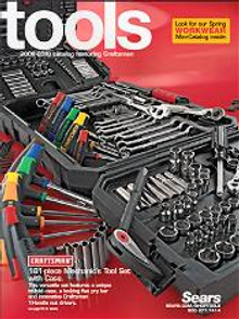 Picture of craftsman hand tools from Sears Annual Tool Catalog - B2B catalog