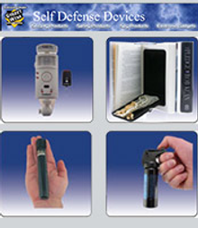 Picture of personal defense weapons from Self Defense Devices catalog