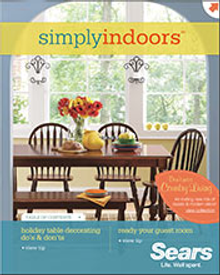 Picture of home decor furnishings from Simply Indoors by Sears catalog