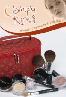 Picture of mineral cosmetics from Simply Karen Mineral Cosmetics catalog