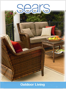 Picture of outdoor living patio from Sears Outdoor Living catalog