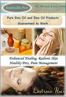 Picture of emu oil from Songline Emu Farm catalog