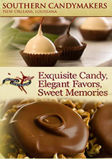 Picture of pecan pralines from Southern CandyMakers catalog