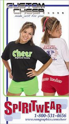 Picture of cheerleading outfits from Spiritwear Cheerleading catalog