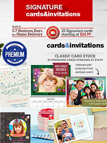 Picture of personalized greeting cards from Staples - Greeting Cards & Calendars catalog