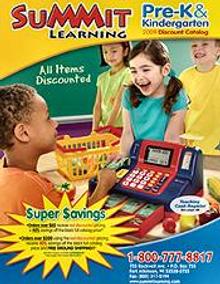 Picture of preschool supplies from Summit Pre K & Kindergarten catalog