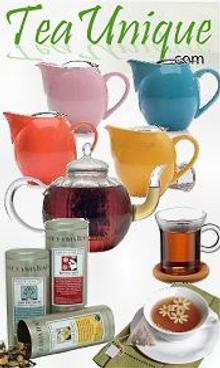 Picture of tea accessories from Tea Unique catalog