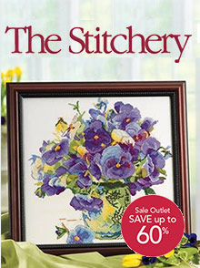 Picture of cross stitch catalogs from The Stitchery - Potpourri Group