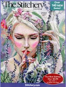 Picture of cross stitch catalogs from The Stitchery - Potpourri Group catalog