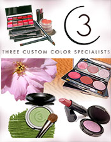 Picture of custom cosmetics from Three Custom Color Specialists catalog