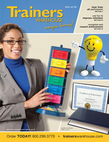Picture of management training tools from  Trainer's Warehouse catalog
