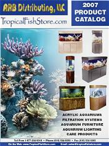Picture of custom built aquariums from Tropical Fish Store catalog