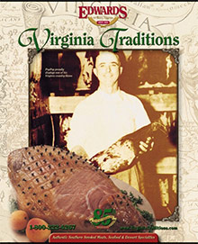 Picture of honey glazed ham from Virginia Traditions catalog