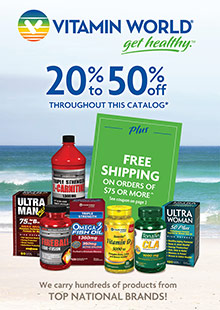 Picture of vitamin catalog from Vitamin World catalog