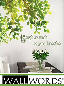 Picture of decorative wall words from Wall Words catalog